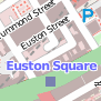 Small map showing Euston Square location